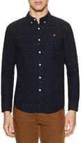 Farah Garfield Oxford Dobby Weave Slim Fit Sportshirt