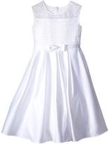 Us Angels Organza & Satin Sleeveless Dress w/ Box Pleat (Little Kids/Big Kids)