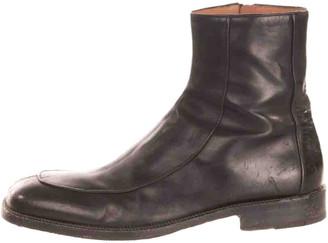 Dries Van Noten Black Leather Boots