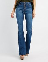 Charlotte Russe Medium Wash Flared Jeans