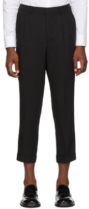 Ami Alexandre Mattiussi Black Pleated Carrot Fit Trousers