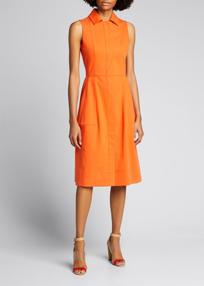 Akris Sleeveless Stretch Denim A-Line Dress
