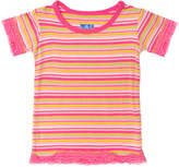 Kickee Pants Striped Lace Trimmed Tee