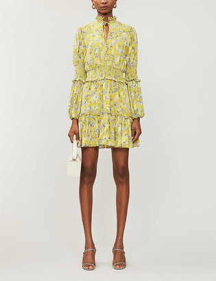 Alexis Rosewell floral-print crepe mini dress