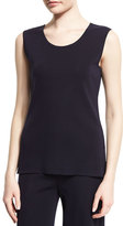 Misook Scoop-Neck Knit Tank, Navy, Petite