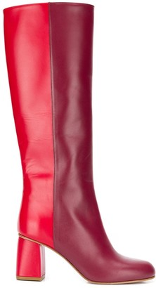 Red(V) Avired two-tone boots