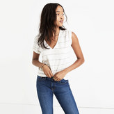 Madewell Whisper Cotton V-Neck Pocket Tee in Prine Stripe