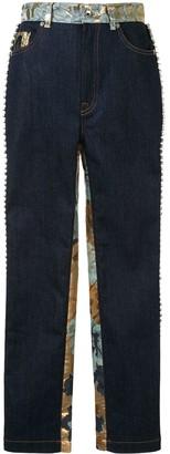 Dolce & Gabbana Embellished Floral Jacquard Jeans