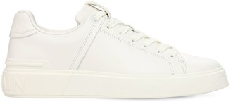 Balmain 20mm B Court Classic Leather Sneakers