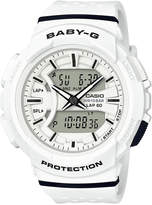 G-Shock Women's Analog-Digital Baby-g White & Black Resin Strap Watch 43mm
