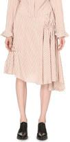J.W.Anderson Asymmetric ruched silk skirt