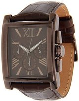 GUESS GUESS? Men's U0010G3 Crocodile Leather Quartz Watch with Dial