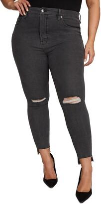 Good American Good Legs Shadow Pockets Distressed Skinny Jeans