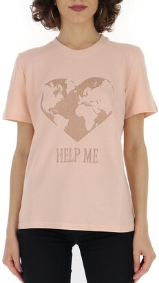 Alberta Ferretti Motif Embroidered T-Shirt