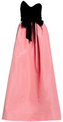 Monique Lhuillier Velvet Bodice Silk Skirted Ball Gown