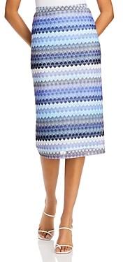 Aqua Striped Crochet Pencil Skirt - 100% Exclusive