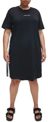 Calvin Klein Jeans Mesh Tape T-Shirt Dress