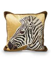 "Jay Strongwater Zebra Pillow, 18""Sq."