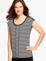 Talbots Easy Jersey Tee - Colorblocked Stripes
