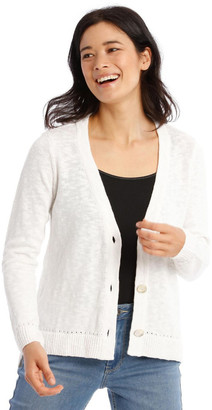 Regatta V-Neck Cardigan with Hi Lo Hem