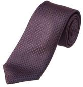 Canali Plum Silk Tie.