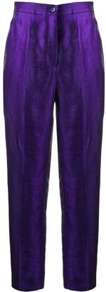 Etro Tapered Leg Iridescent Trousers