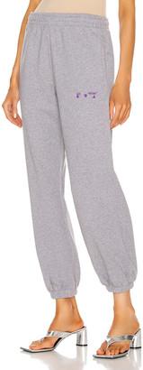 Off-White Logo Slim Sweatpant in Light Grey & Violet | FWRD