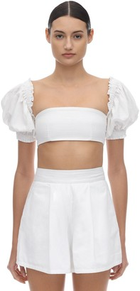 WeWoreWhat Coco Cotton Bandeau Top