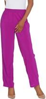 Bob Mackie Straight Leg Pull-On Woven Pants