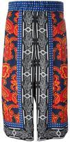Alexander McQueen multi foulard print shorts