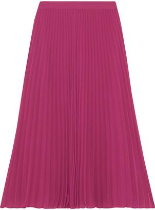 Iris & Ink Clove Pleated Chiffon Midi Skirt