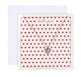 Johnny Loves Rosie Women Gold Plated Chain Necklace of Length 48cm Hello You Gift Card