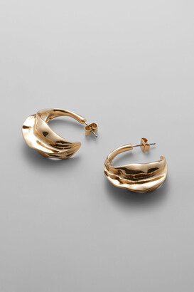 Weekday Trine Hoop Earrings - Gold