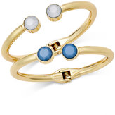 INC International Concepts Gold-Tone 2-Pc. Set Crystal Hinged Bangle Bracelets, Only at Macy's