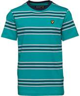 Lyle & Scott Junior Boys Double Stripe T-Shirt Aqua Green