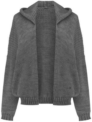 You By Tokarska Soft Sweater Akane With Hood Grey