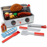 Melissa & Doug 24-Pc. Rotisserie Grill Barbecue Set Play Food
