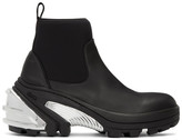 Alyx Black and Silver Rubber Boots