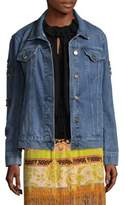 Etro Embroidered Patch Jean Jacket