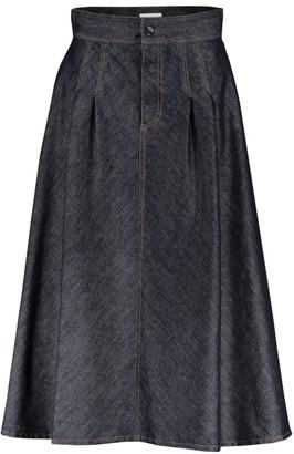 Escada Raw Maxi Denim Skirt