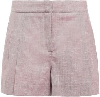 CASASOLA Pleated Wool-blend Shorts
