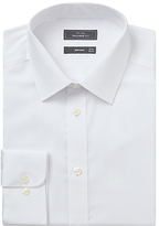 John Lewis Non Iron Twill Tailored Fit Xl Sleeve Shirt, White