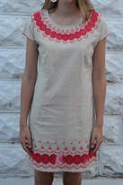 Esley Tan Embroidered Dress