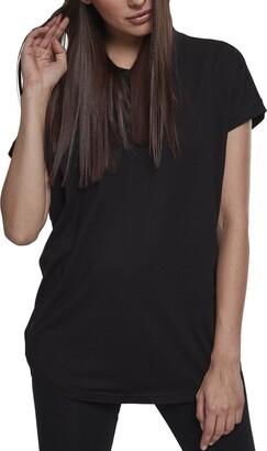 Urban Classics Women's Ladies Sleeveless Jersey Hoody T-Shirt