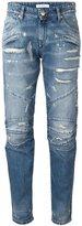 Pierre Balmain 'Moto' jeans