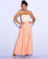 Speechless Juniors Dress, Strapless Sequin Empire-Waist Gown