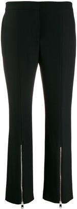 Alexander McQueen Cropped Zip Front Trousers