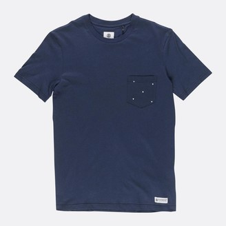 Element Navy Declo Pocket T Shirt - Medium - Blue
