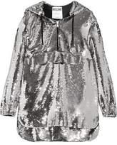 Moschino Hooded Sequinned Chiffon Sweatshirt