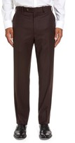 JB Britches Men's Flat Front Solid Wool & Cashmere Trousers